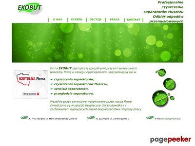 Profesjonalne czyszczenie separatorów tłuszczu