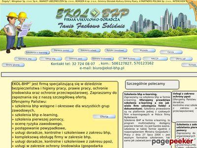 Szkolenia bhp, usługi bhp, szkolenia bhp e-learning