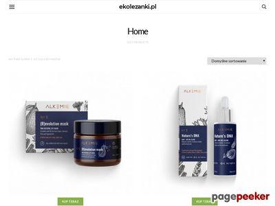 Sklep internetowy z naturalnymi kosmetykami - www.ekolezanki.pl