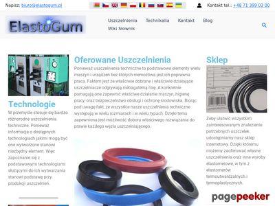 ElastoGum - Uszczelnienia Techniczne, Wyroby Gumowe