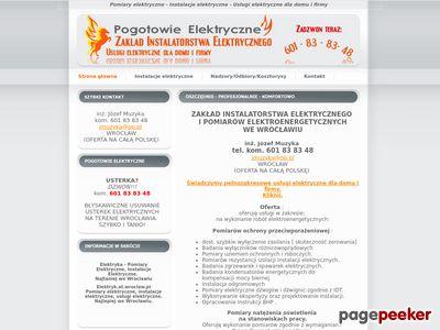 Pomiary elektryczne Wrocław