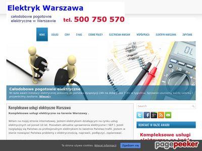 Elektryk Warszawa - awarie, podlaczenia, instalacje
