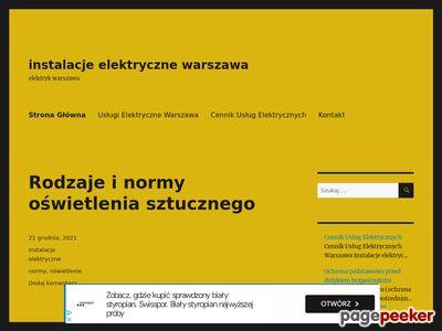 Elektryk Warszawa, usługi elektryczne