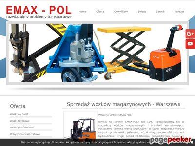 EMAX-POL wózki magazynowe warszawa