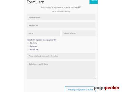 Dostawy gazu w butlach - Poznań