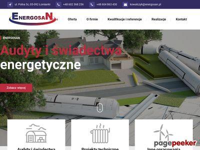 Energosan - audyty energetyczne Warszawa - projekty instalacji sanitarnych i co - audyty remontowe