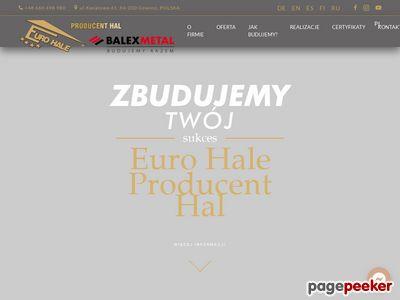 Eurohale - projekty hal