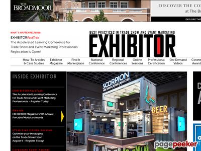 ExhibitorNet.com - Exhibitor Magazine Group's online resource for trade show and Screenshot