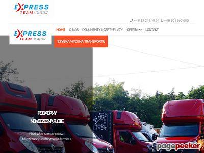 EXPRESS-TEAM transport międzynarodowy śląskie