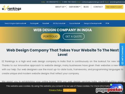 EZ Rankings - Web Designing Company India