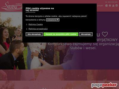 Fabryka Ślubu- oprawa wesela, sklep ślubny