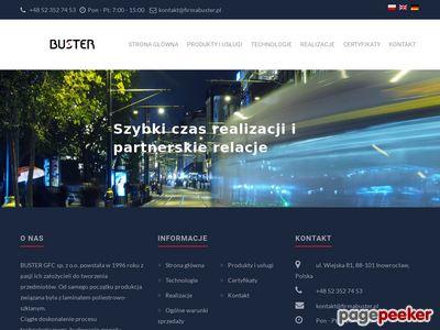 Firma BUSTER - Zlewozmywaki z żywic poliestrowych