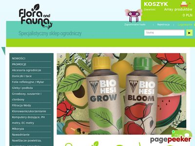 Growshop Flora and Fauna - nawozy Plagron