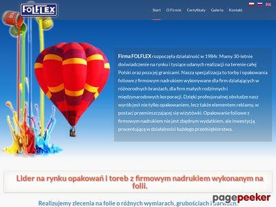 Folflex. Producent opakowań foliowych z nadrukiem