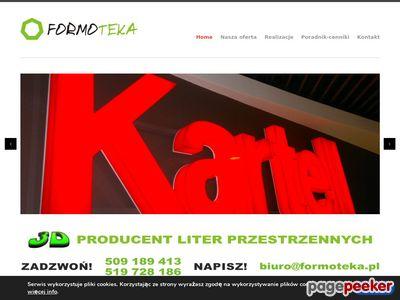Litery przestrzenne Warszawa