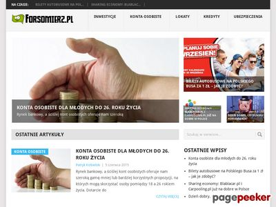 Forsomierz.pl - Zarabianie, oszczędzanie, inwestycje, produkty finansowe