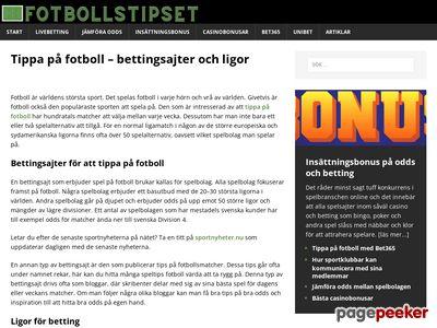 Fotbollstipset.se - odds & betting - http://www.fotbollstipset.se
