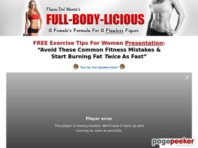 Flavia Del Monte's Weight Loss and Fitness For Women – Get A Flawless Female Figure