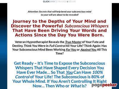 Subconscious Whispers – Dr. Steve G. Jones, Ed.D.