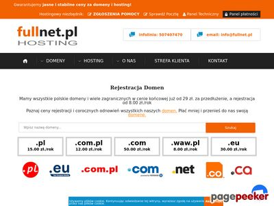 Strony Internetowe - Hosting