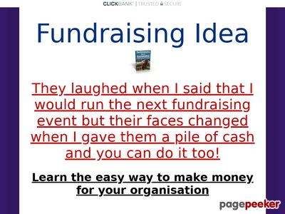 Fund Raising Idea – How To Make Your Group £5,000 in one night