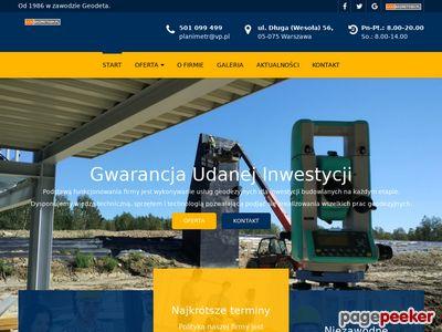 Usługi Geodezyjne PLANIMETR