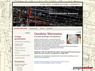 Skanowanie map Warszawa