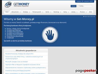 Karty kredytowe, Kredyty, Konta Bankowe w GETMONEY