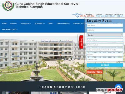 GURU GOBIND SINGH EDUCATIONAL SOCIETY TECHNICAL CAMPUS