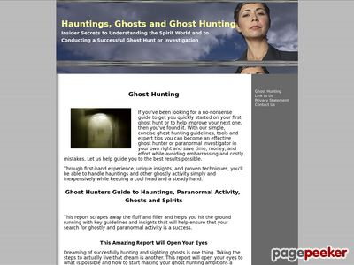 Ghost Hunting – Ghost Hunting – Hauntings – Sighting Ghosts and Spirits