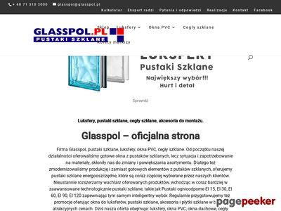 Glasspol.pl pustaki szklane, luksfery, EI 60, EI 15 i EI 30, okna z luksferów.