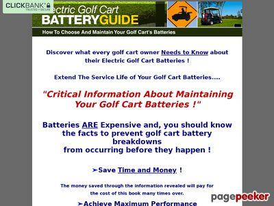 Golf cart batteries - Golf Cart Batteries Maintenance