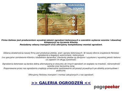 GOLMEX - Ogrodzenia betonowe