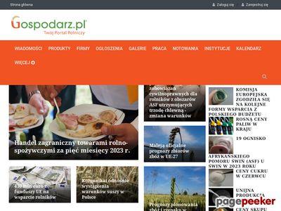 Gospodarz.pl - portal rolniczy, serwis rolniczy dla rolników