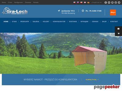 Namioty handlowe producent - Gra Lech