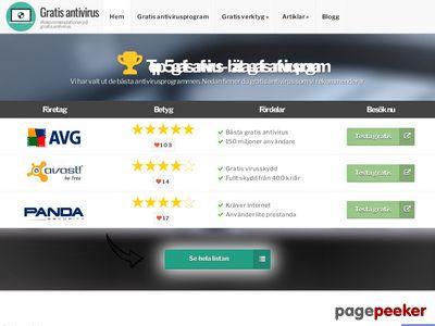Gratis antivirus - vi listar alla gratis virusskydd - http://www.gratisantivirus.nu