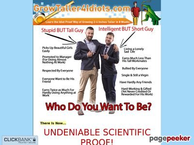 Grow Taller 4 Idiots - How to Increase Height, How to Grow Taller, How to Get Taller & Increase Height