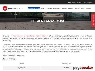 Deski tarasowe Poznań
