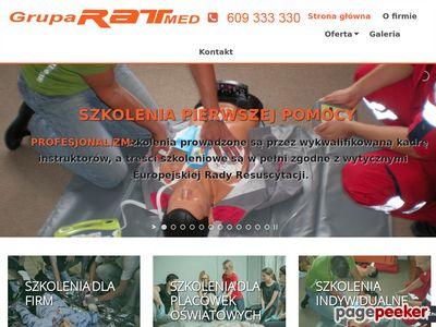 Grupa Ratmed to szkolenie, kurs pierwszej pomocy, pierwsza pomoc, zabezpieczenie medyczne.