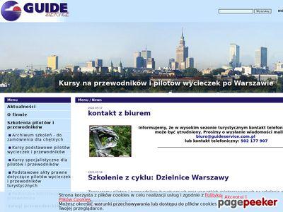 Guide Service kurs przewodnika po Warszawie