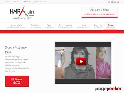 HairAgain System peruki damskie, Co na wypadanie włosów