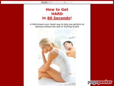 How to Get a Hard, Firm Erection in 60 Seconds