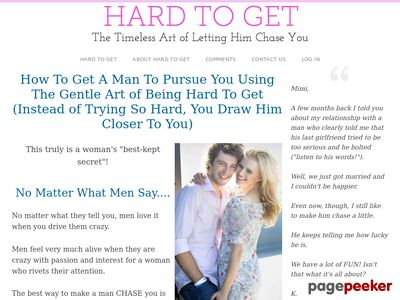Hard To Get – The Timeless Art of Conquering His Heart – Official Site