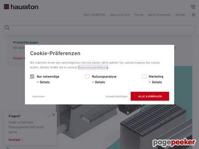 Hauraton - odwodnianie powierzchni