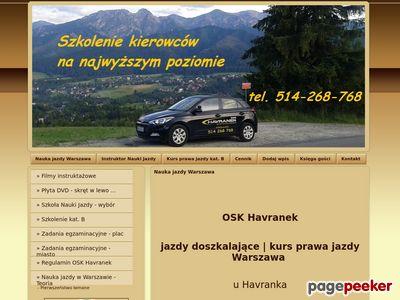Jazdy doszkalające nauka jazdy Warszawa