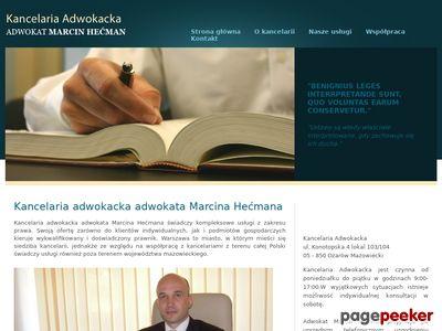 Godna zaufania kancelaria adwokacka w mieście Warszawa