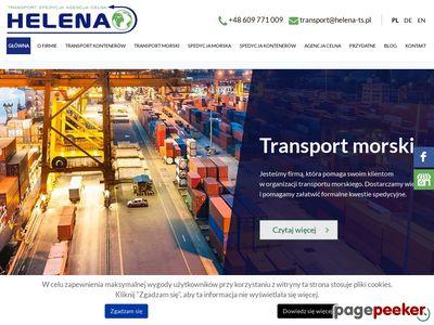 Transport kontenerów HELENA TS Gdynia