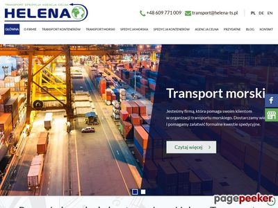 Transport morski, Transport kontenerów HELENA-TS Gdynia