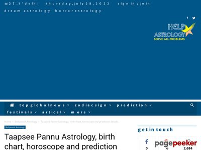 Read more about: http://www.helpastrology.com/taapsee-pannu-astrology-birth-chart-horoscope-and-prediction-details/
