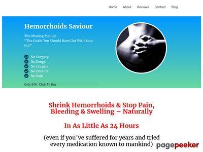 Hemorrhoids Saviour  –  Cure Hemorrhoids Fast & Forever